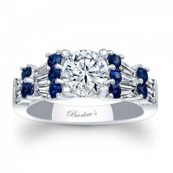 Blue Sapphire Engagement Ring 7985LBS