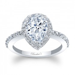 White Gold Pear Shaped Engagement Ring 8061L
