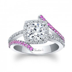 Pink Sapphire Engagement Ring 8005LPS