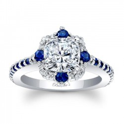Blue Sapphire Engagement Ring 8006LBS