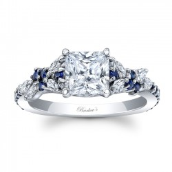 Blue Sapphire Engagement Ring 8012LBS