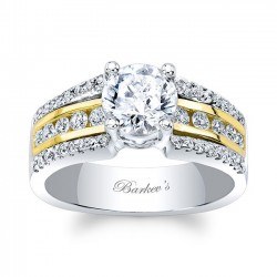 White & Yellow Gold Engagement Ring 8016LTY