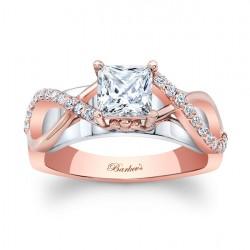 Rose Gold Engagement Ring 8018LT