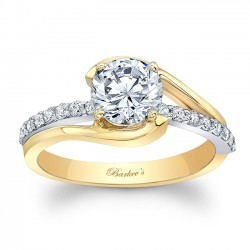 Yellow & White Gold Engagement Ring 8033LTY
