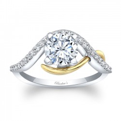 Yellow & White Gold Engagement Ring 8036LT