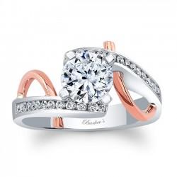 Unique Diamond Engagement Ring 8038LTPRV