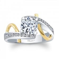 Unique Diamond Engagement Ring 8038LTYRV
