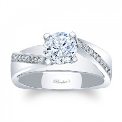 White Gold Engagement Ring 8043L