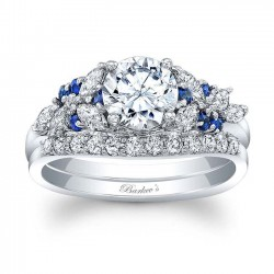 Blue Sapphire Engagement Ring 8044SBS