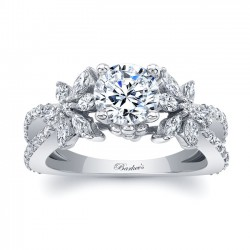 White Gold Engagement Ring 8056L