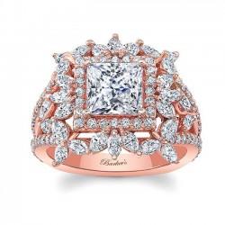 Rose Gold Engagement Ring 8057LP