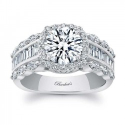 White Gold Engagement Ring 8059L