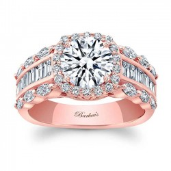 Rose Gold Engagement Ring 8059LP