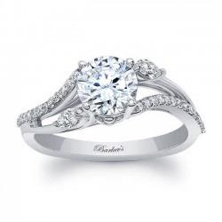 White Gold Engagement Ring 8060L