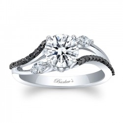 Marquise & Black Diamond Engagement Ring 8060LBK