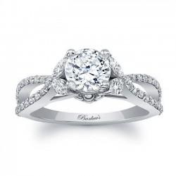 White Gold Engagement Ring 8062L