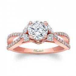 Rose Gold Engagement Ring 8062LP