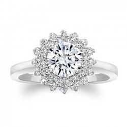 White Gold Engagement Ring 8063L