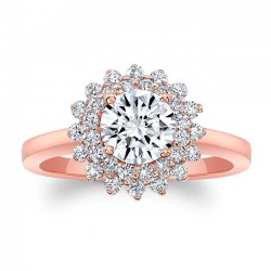Rose Gold Engagement Ring 8063LP