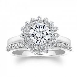 White Gold Bridal Set 8063S