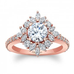 Rose Gold Engagement Ring 8065LP