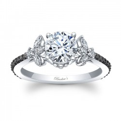 Black Diamond Engagement Ring 8066LBK