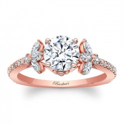 Rose Gold Engagement Ring 8066LP