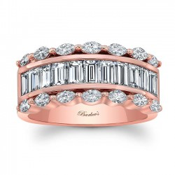 Rose Gold Wedding Band 8068LP Front