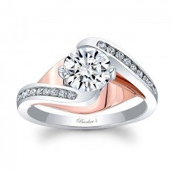 Rose and White Gold Engagement Ring 8069LT