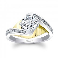 Yellow and White Gold Engagement Ring 8069LTY
