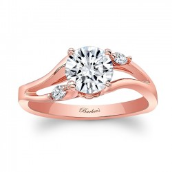 Rose Gold Engagement Ring With Marquise Diamonds 8072LP