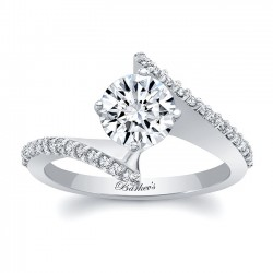 Bypass White Gold Engagement Ring 8073L