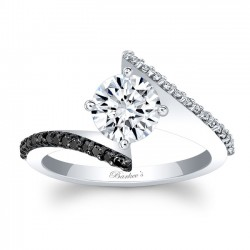 Bypass Black Diamond Engagement Ring 8073LBK