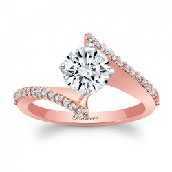 Bypass Rose Gold Engagement Ring 8073LP