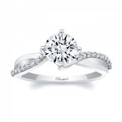 White Gold Engagement Ring 8077L
