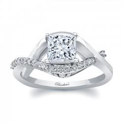 Barkev's White Gold Princess Cut Engagement Ring 8078L