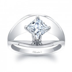 White Gold Solitaire Engagement Ring 8085L