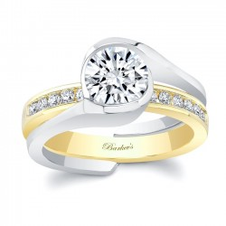 White & Yellow Gold Bridal Set 8092STY