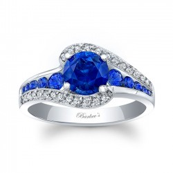 Blue Sapphire Engagement Ring BSC-7898LBS