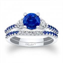 Blue Sapphire Bridal Set BSC-7539SBS