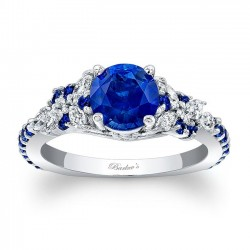 Blue Sapphire Engagement Ring BSC-7932LBS
