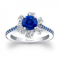 Blue Sapphire Engagement Ring BSC-7958LBS