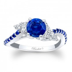 Blue Sapphire Engagement Ring BSC-7968LBS