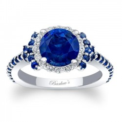 Blue Sapphire Engagement Ring BSC-7979LBS
