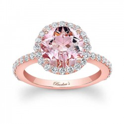 Morganite Engagement Ring MOC-7839LP