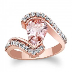 Morganite Engagement Ring MOC-8007LP