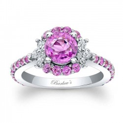 Pink Sapphire Engagement Ring PC-7930LPS
