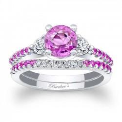 Pink Sapphire Bridal Set PSC-7539SPS