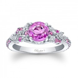 Pink Sapphire Engagement Ring PSC-7932LPS