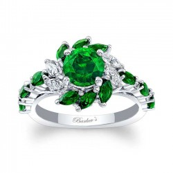 Tsavorite Engagement Ring TC-7992LTSV